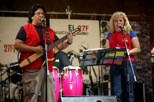 Lloviznando Cantos también participó este 26 de febrero de 2010 en evento rememorando el Caracazo en Catia