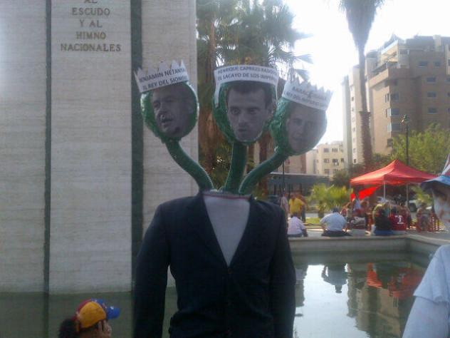 En la Plaza Los Símbolos, Caracas. Foto: @Sinabriles1234