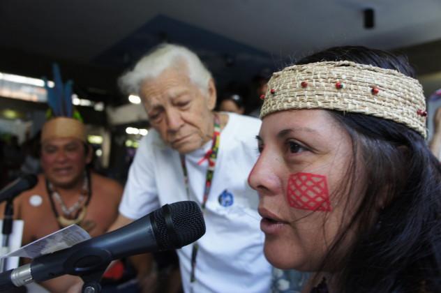 Tamara Caña y Antonio Prato, de la etnia Jivi (Foto: Luigino Bracci)