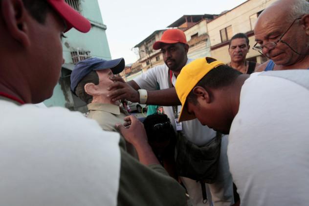 Queman al Judas Capriles en San Agustín del Sur (Foto: AVN)