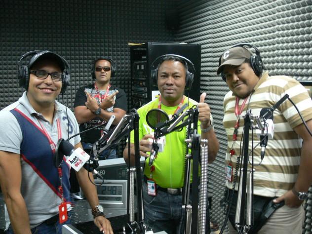 El equipo de Radar 96 FM. Foto: D. Liendo