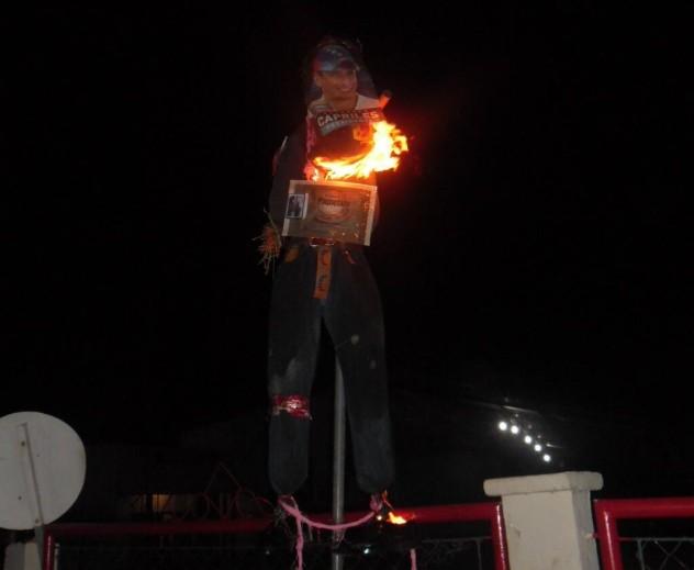 Hasta en la Gran Sabana, estado Bolívar, quemaron a Capriles. Foto: @Gransabana