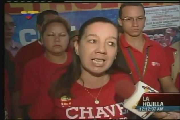Marda Muñoz, coordinadora  de Comités Patrióticos de Trabajadoras y Trabajadores Petroleros, quien hizo la denuncia a VTV