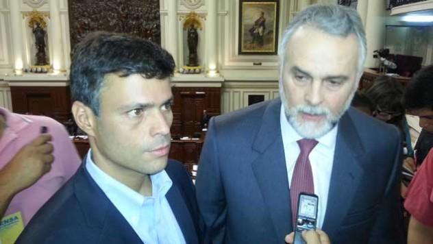 Leopoldo López y Eduardo Gómez Sigala. Créditos:  Peru21