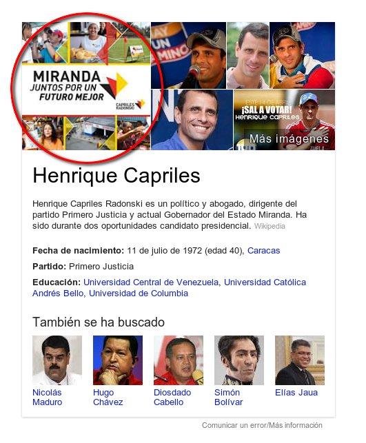 capriles-google