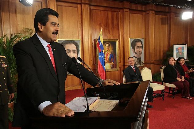 Presidente Maduro este jueves en Caracas. Foto: AVN