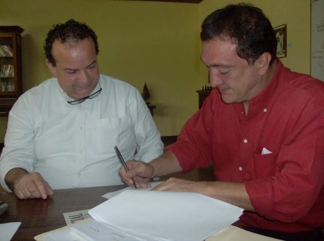 Edgar Páez (izq.) y Humberto González (Foto: MPPC)