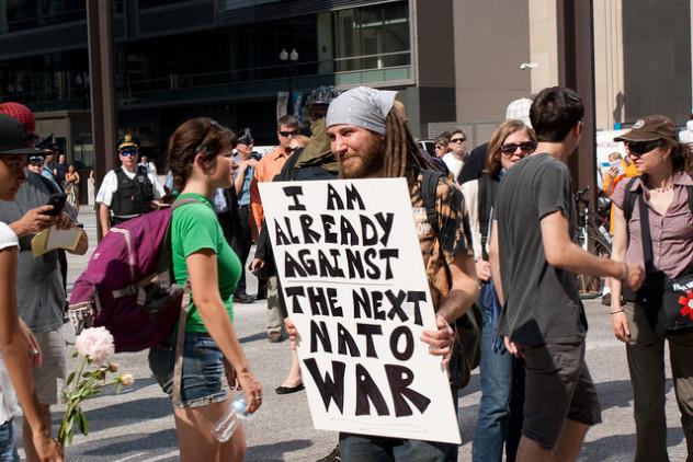 Protesta contra la OTAN en Chicago, mayo de 2012.