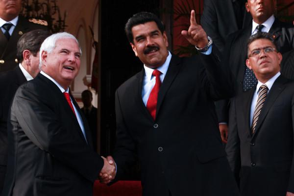 Las declaraciones de Maduro se produjeron luego de reunirse con Ricardo Martinelli, presidente de Panamá, quien visitó el palacio presidencial venezolano. Foto: Prensa Presidencial