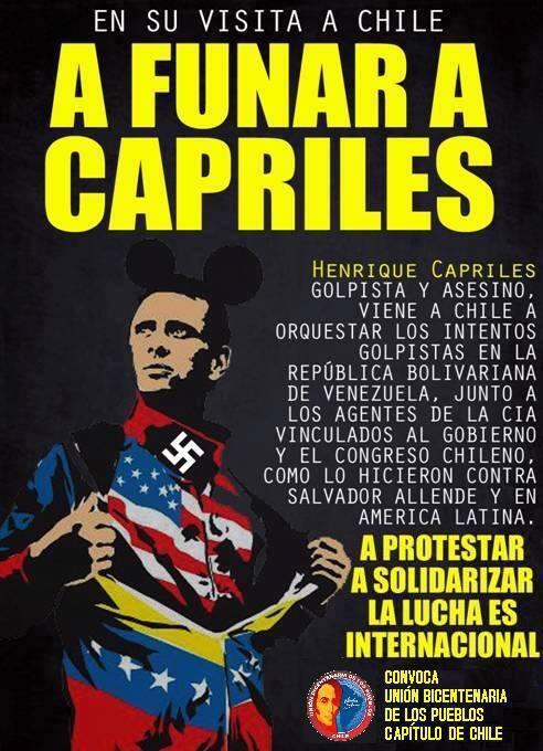 """Con este afiche convocaron """"a funar"""" a Capriles. Foto: @emedeche"""