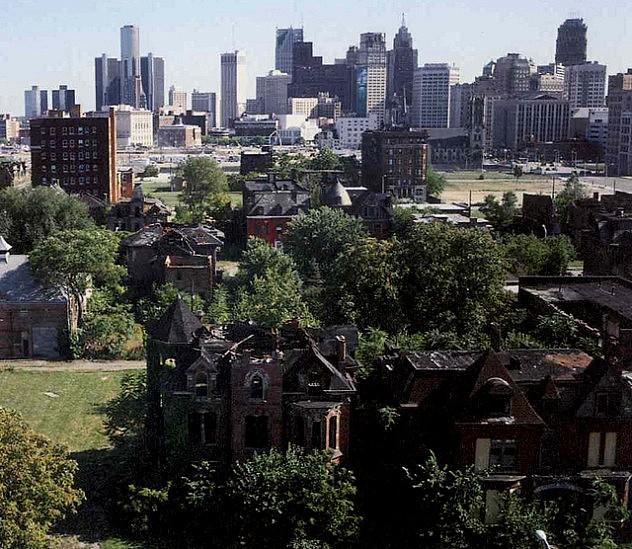 El pizpireto barrio burgués de Brush Park como muestra del fracaso de toda una ciudad.