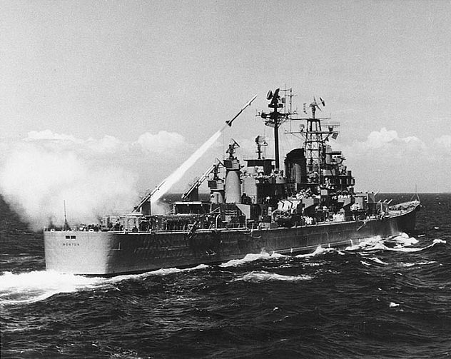 USS_Boston_firing_Terrier_guided_missile_1956