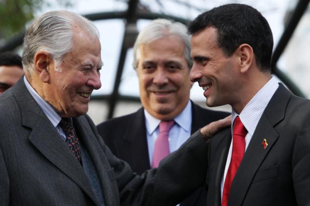 Capriles recibido por Patricio Aylwin