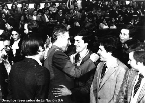 Patricio Melero formó parte de diferentes colectivos juveniles chilenos que apoyaron a Augusto Pinochet