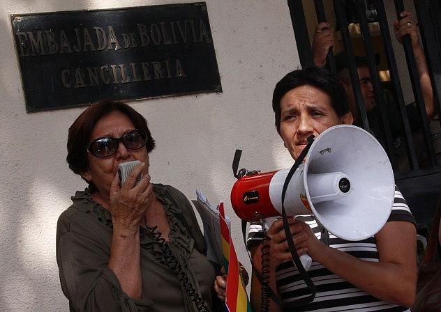 En la embajada de Bolivia en Caracas (Foto: AVN)