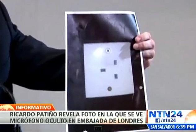 El dispositivo cerrado aparentaba ser un enchufe eléctrico, informó Patiño.