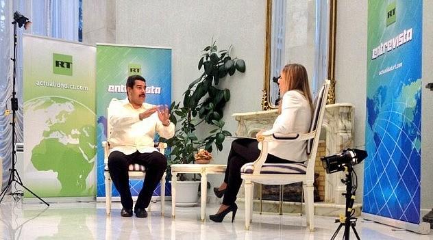 Maduro en el canal RT. Foto: @KoleSnikov_Igor