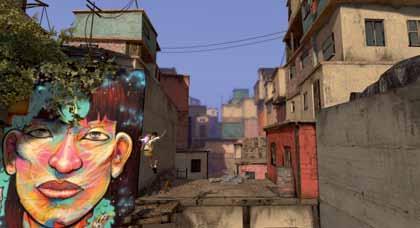 En Papo & Yo, el protagonista interactúa con elementos del barrio