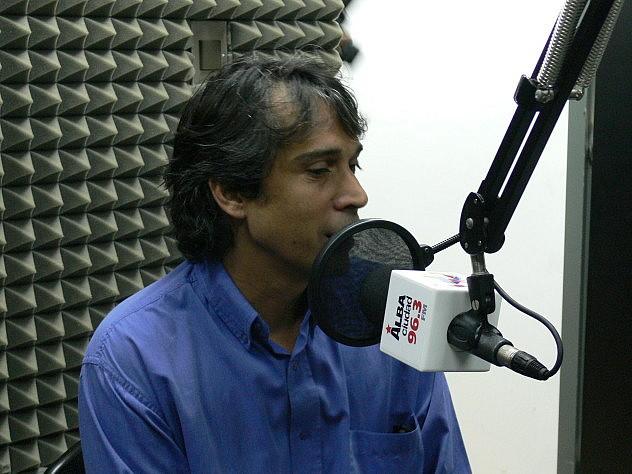 Alfredo Caldera este lunes en La Bodega Cultural