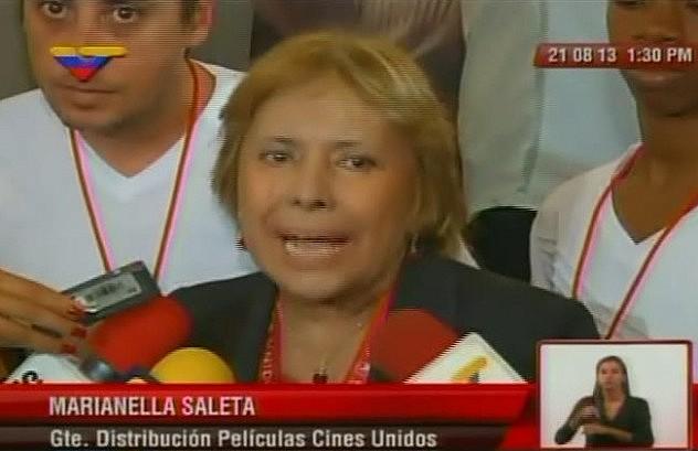 Marianella Saleta, gerente de comercialización de Cines Unidos, confirmó que una sala del Sambil será dedicada a mostrar la película