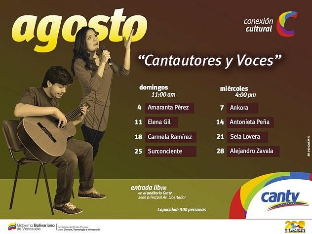"""Programa de """"Conexión Cultural"""" para el mes de agosto"""