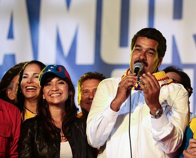 María Antonieta Peña junto a Nicolás Maduro el pasado mes de abril (AVN)