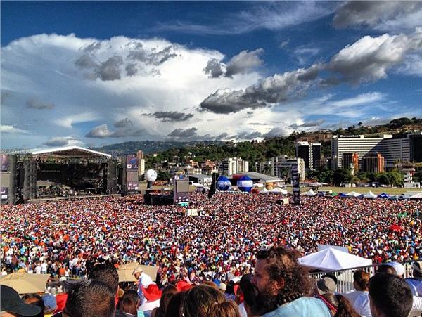 El concierto en Caracas será en  La Carlota. Foto: @yelinares