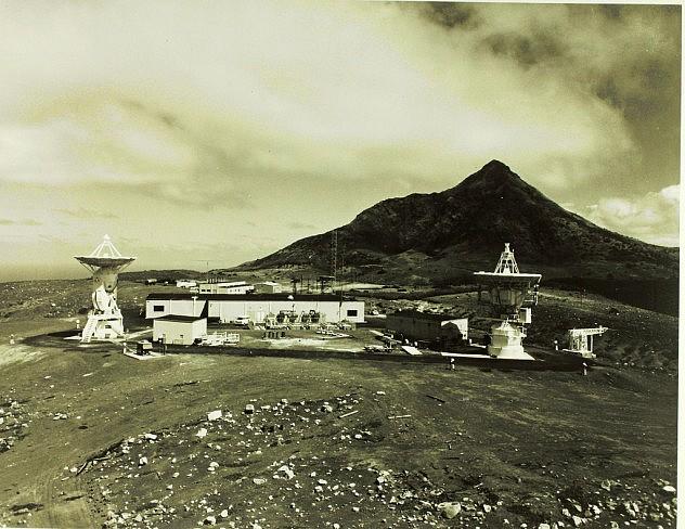 Estación de rastreo en la isla Ascensión. Foto en el Museo de San Diego