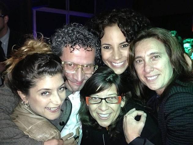 """Alberto Arveloy Mariana Rondón, directora de """"Pelo malo"""", película también proyectada en el Festival Internacional de Cine de Toronto. Foto: @Cinemapress"""