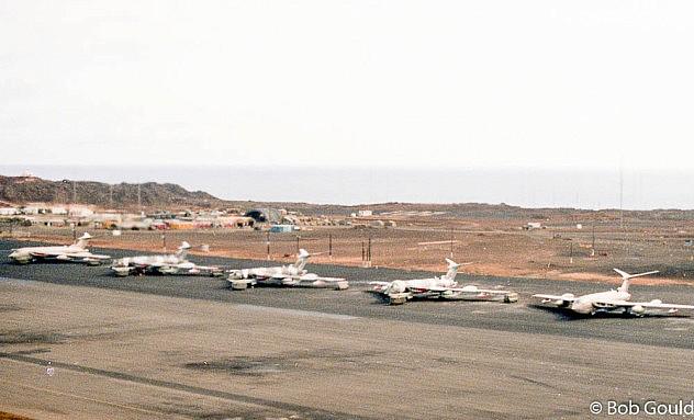 Base aérea estadounidente en la isla Ascensión. Foto: Bob0260