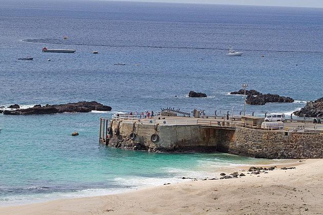 Muelle en isla Ascensión. Foto: Graham Ekins