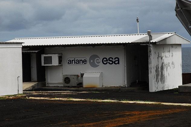 Puesto Ariane de la Agencia Espacial Europa en la isla Ascensión. Foto: LM-D200