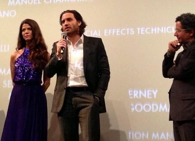 Juana Acosta, Edgar Ramírez y Alberto Arvelo en la premier. Foto: Matthew Cairns