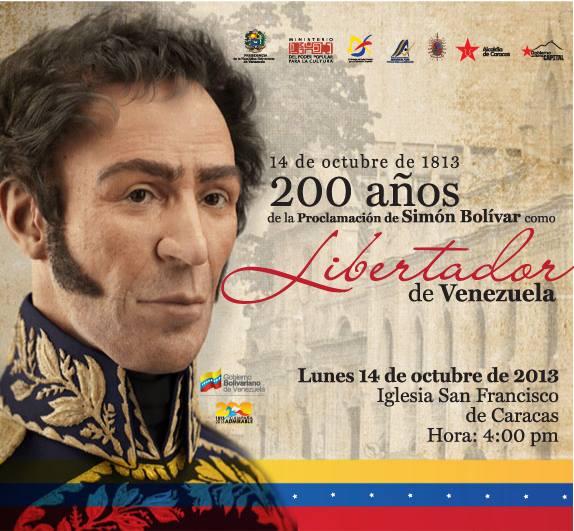 ID Proclamación Simón Bolívar como Libertador de Venezuela