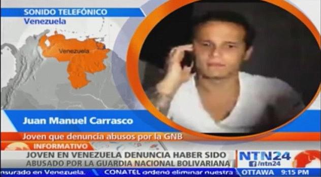 Carrasco denunció en medios internacionales una supuesta violación por parte de efectivos de la GNB.