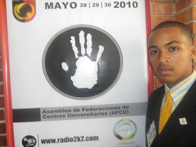 Yeiker Guerra también se reunió con el movimiento Manos Blancas en 2010. Foto de su Facebook