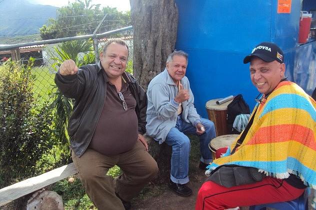 GUILLERMO CASANOVA EN COMPAÑIA DE PEDRO VARELA Y LINO ACEVEDO