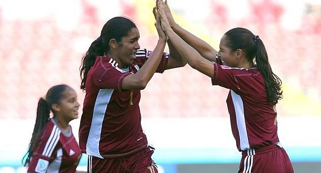 Gabriela García celebra el tercer gol venezolano. Foto: Getty Images/Fifa