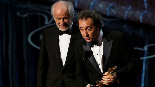 El director de La Grade Bellezza, Paolo Sorrentino, junto al actor Toni Servillo