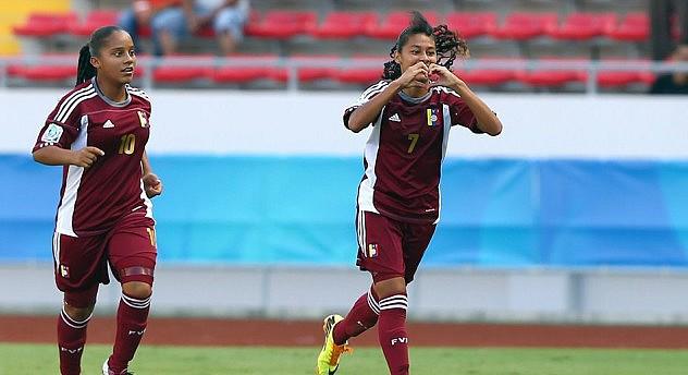 Yosneidy Zambrano celebra el segundo gol. Foto: Getty Images/FIFA