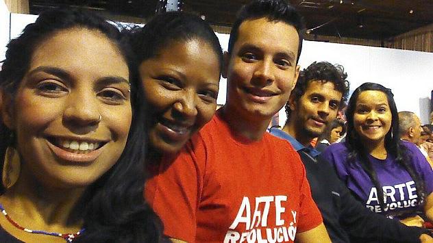 Miembros del movimiento estudiantil Unearte Popular en el programa. Foto: Fany Calzadilla @Fanina05