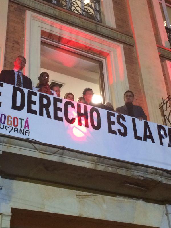Gustavo Petro observó parte del concierto desde la sede de la Alcaldía.