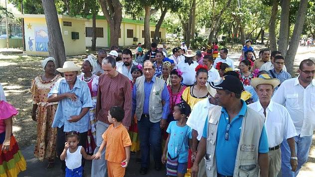 Llegada del Ministro del Poder Popular para la Cultura, El Gobernador del estado Sucre y el director de la ENCP al Parque Guaiqueri en el estado Sucre.