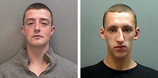 Jordan Blackshaw, a la izquierda, y Perry Sutcliffe-Keenan fueron condenados a 4 años de cárcel por llamar a manifestaciones violentas desde Facebook. La empresa cerró las páginas creadas por ellos a solicitud de la policía local.