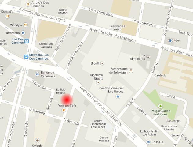 Mapa con el lugar de la explosión