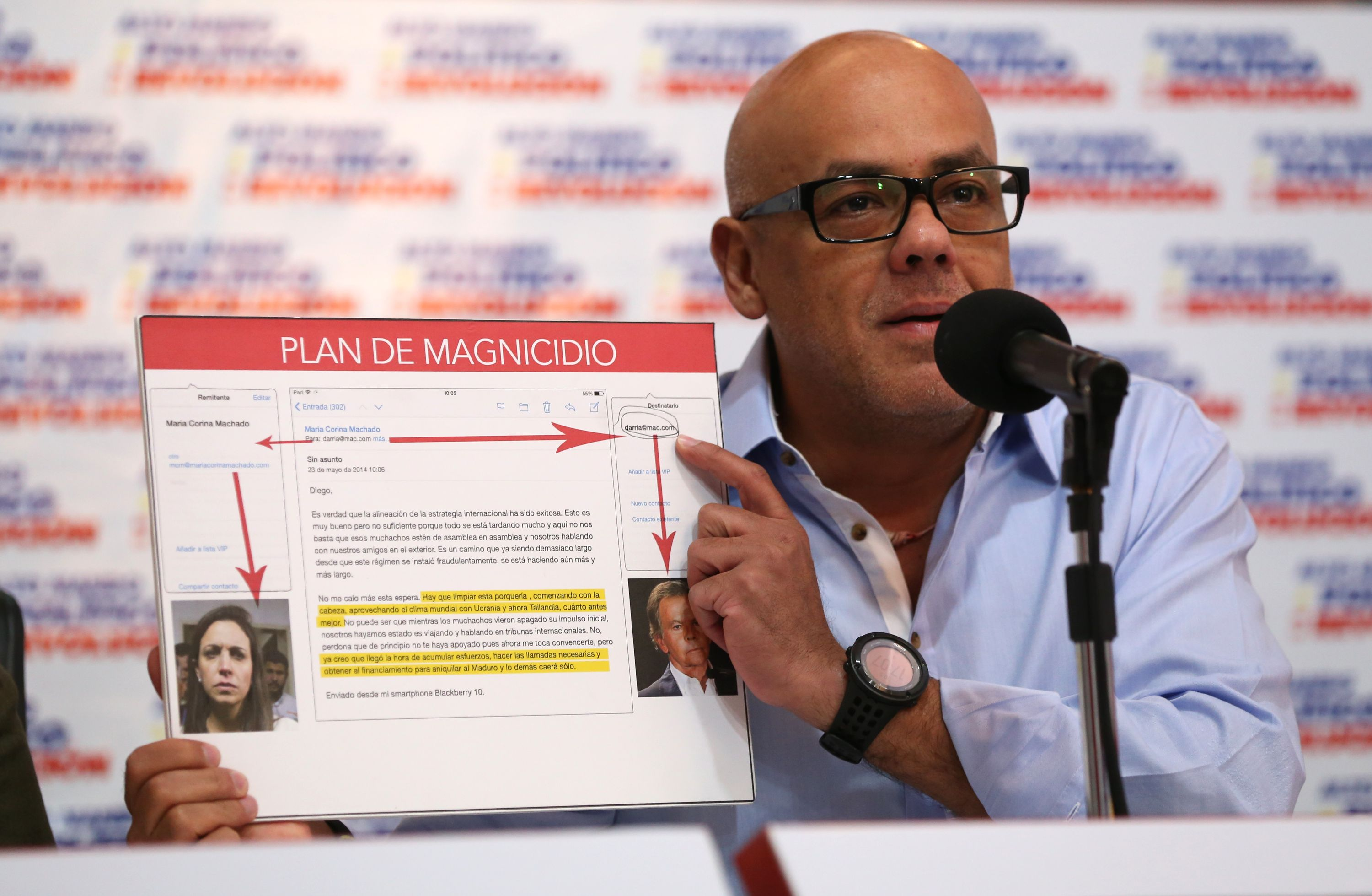 Jorge Rodriguez denounced plan to kill President Maduro.