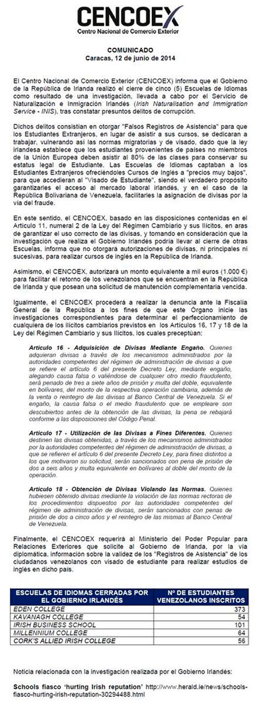 Comunicado450CencoexIrlanda