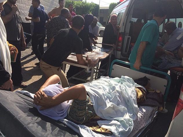 Caos en el hospital tras el ataque. Foto: Nick Schifrin @nickschifrin