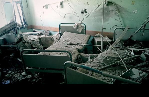 Así quedó el hospital. Foto: @AlertaNews24