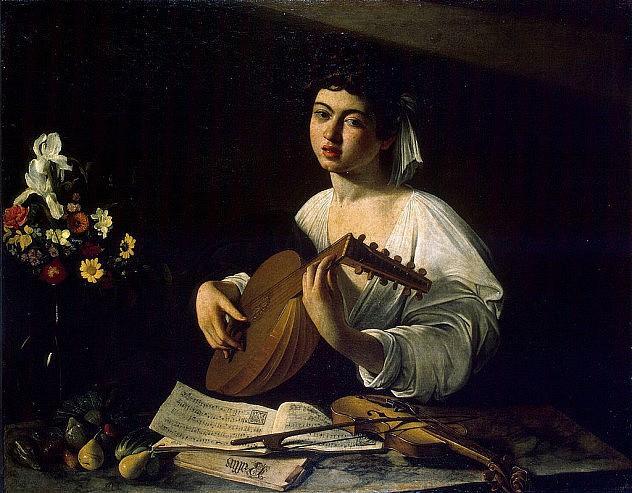 """""""El tocador de Laúd"""", cuadro de Michelangelo Caravaggio."""